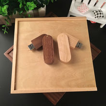 Customized Photo Album Box 170*170*35mm USB 3.0 Flash Drive Swivel Wooden Usb 2.0 Memory Flash Stick