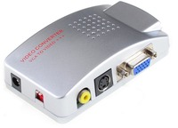 New VGA Để Video của PC máy tính xách tay Composite Video AV S-Video RCA để PC Laptop VGA TV Chuyển Đổi adapter chuyển box