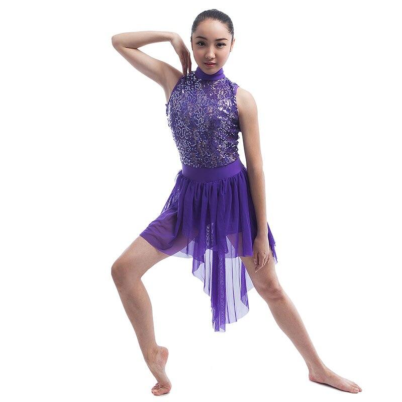Novelty & Special Use Female Modern Dance Dance Skirt Sequins Stretch Stage Costume Dance Costumefor Girls Dancewear Professional Ballet Tutus