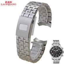 Laopijiang из нержавеющей стали наручные часы с браслетом для мужчина пилоты в управлении большой муха ремень марк 17 м ленты 20 мм 21 мм