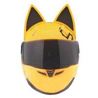 צהוב נגד ערפל קסדת אופנוע מירוץ קסדת אופנוע casco עיצוב אישיות moto kask הורי NITRINOS מותג