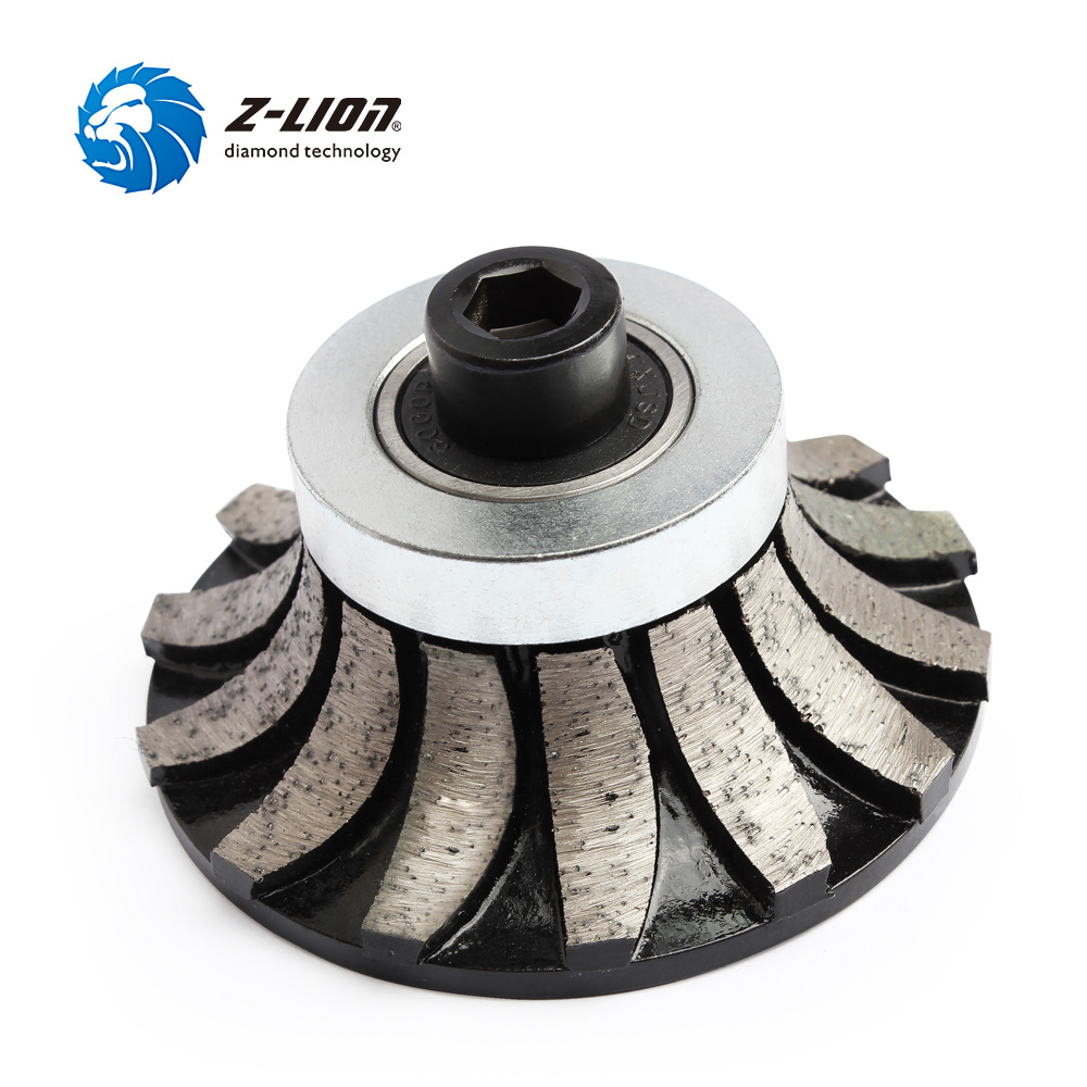 Z-LION Diamond Profile Wheel A30 Segmented Router Bit M10 Arbor Diamond Grinding Wheel For Granite Marble Countertop Edge цена