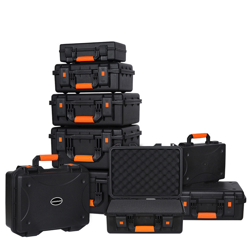 Tool Case Impact Resistant Safety Case Protective Safety Toolbox Instrument Camera Case Shockproof Waterproof Tool Box With Foam