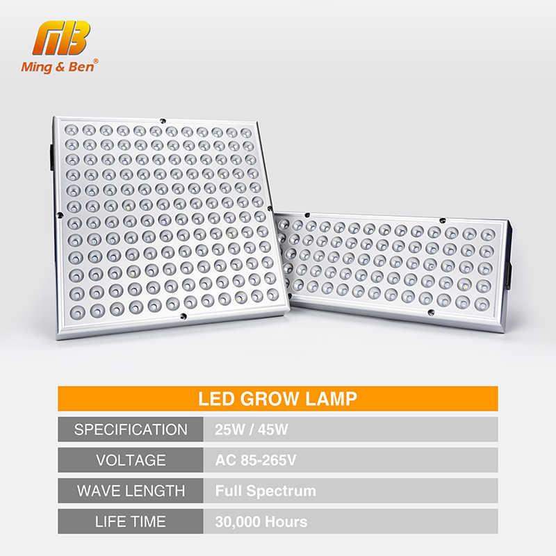 25 Вт 45 Вт Светодиодный светильник для выращивания полный спектр 85-265 в растительный светильник 75 144 светодиодный s UV IR лампы для теплицы комнатный рост Fitolamp