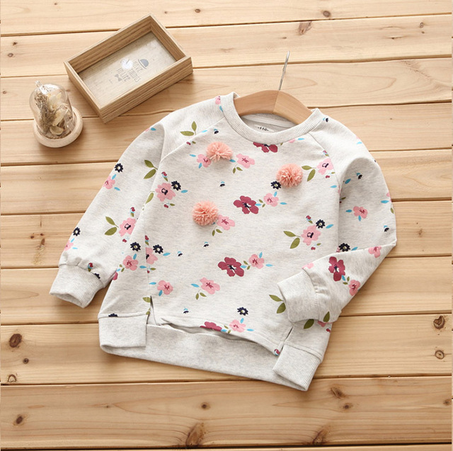 2018 spring new girls sweater small fresh spring children s shirt  three-dimensional flowers pattern 793e13e9fc43