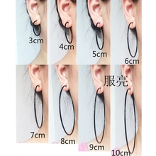 Hoop earrings for women nightclub DJ Big small circle black round youth student gril Exaggerated punk Popular simple wholesale