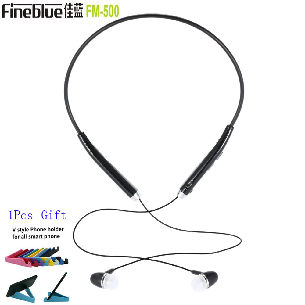 New Fineblue FM-500 Wireless Bluetooth Stereo Headset NFC Earphone Hands-free Anti Lost Vibration Sport Headphone for Running fw1s 2016 new arrival q9 wireless bluetooth 4 1 stereo earphone sport running studio free shipping