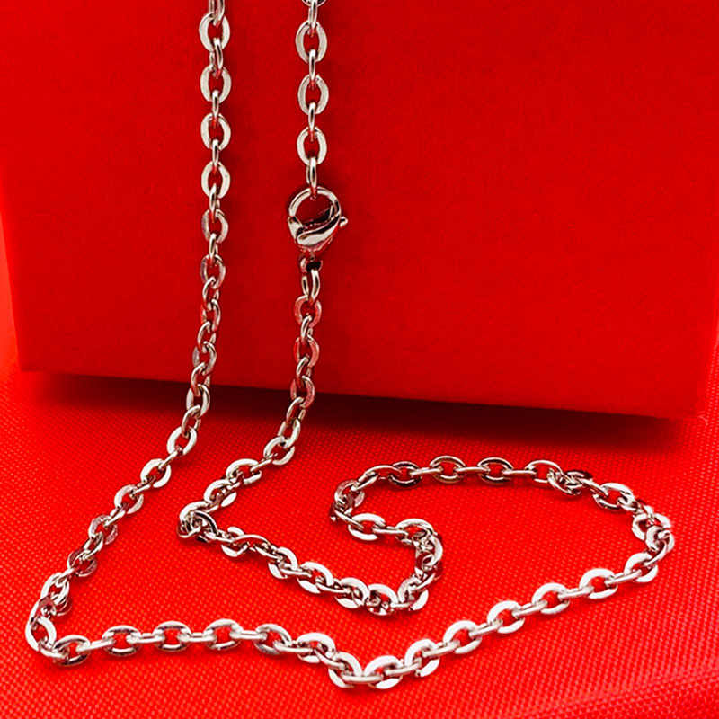 """Mannen Vrouwen Chain Breedte 2.3mm 3mm 16 """"18"""" 20 """"22"""" 24 """"26"""" 28 """"30"""" inch Links Chain Mode Ketting Rvs Ketting"""