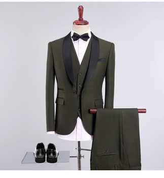 2018 new collar patched latest coat pant designs men wedding suits 3 pieces plus size 4xl songle button suit set mens classic