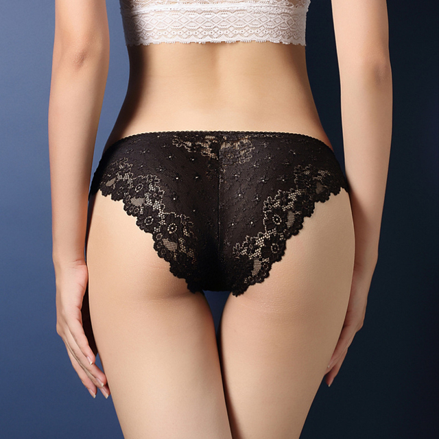 Hot Fashion Women Underwear Sexy Lace Transparent Low Waist Hollow T Back Panties Lady Briefs