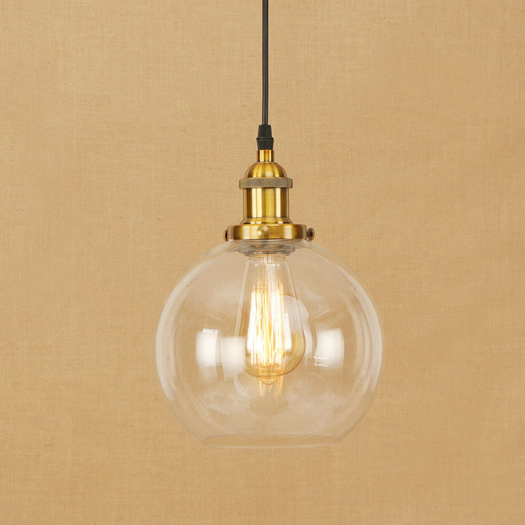 IWHD Vintage Lamp American Style Loft Pendant Lamps  LED kitchen Bedroom Glass Ball  Pendant Light Fixtures e27 220V For Decor edison inustrial loft vintage amber glass basin pendant lights lamp for cafe bar hall bedroom club dining room droplight decor