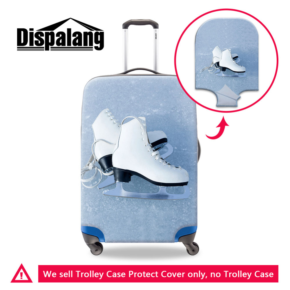 Dispalang Roller Skates Print Luggage Protective Covers For 18-30 Inch Trolley Case Cute Suitcase Dust Cover Travel Accessories