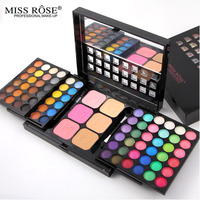 Pro 78 Full Color Eyeshadow Make Up Palette Asian South American Shiny Eye Shadow Concealer Blush