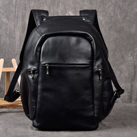Men Genuine Leather cow Backpack External USB Charge Waterproof Backpack 100% real Leather Travel Bag School Bag For Teenagers