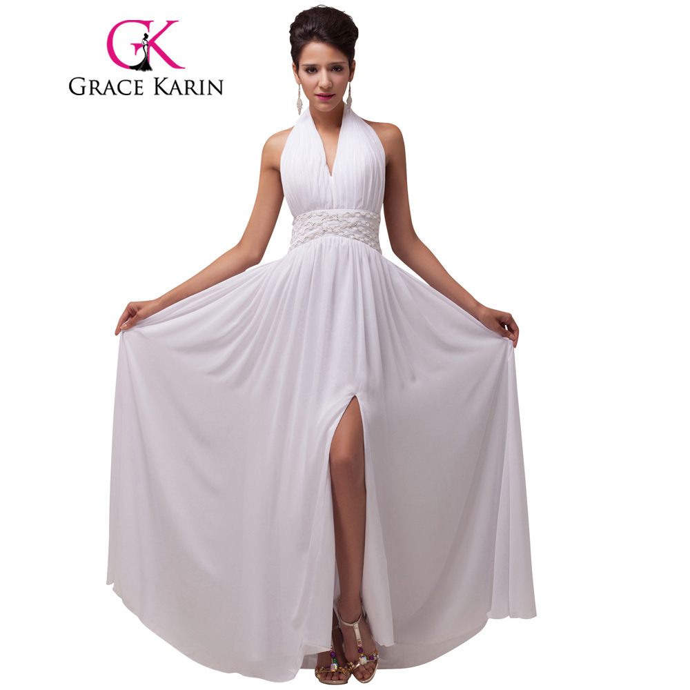 Online Get Cheap White Elegant Evening Dress with Train ...
