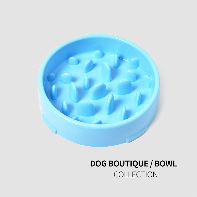 2019New pet supplies plastic bowls slow food dog anti mite in Dog Feeding from Home Garden
