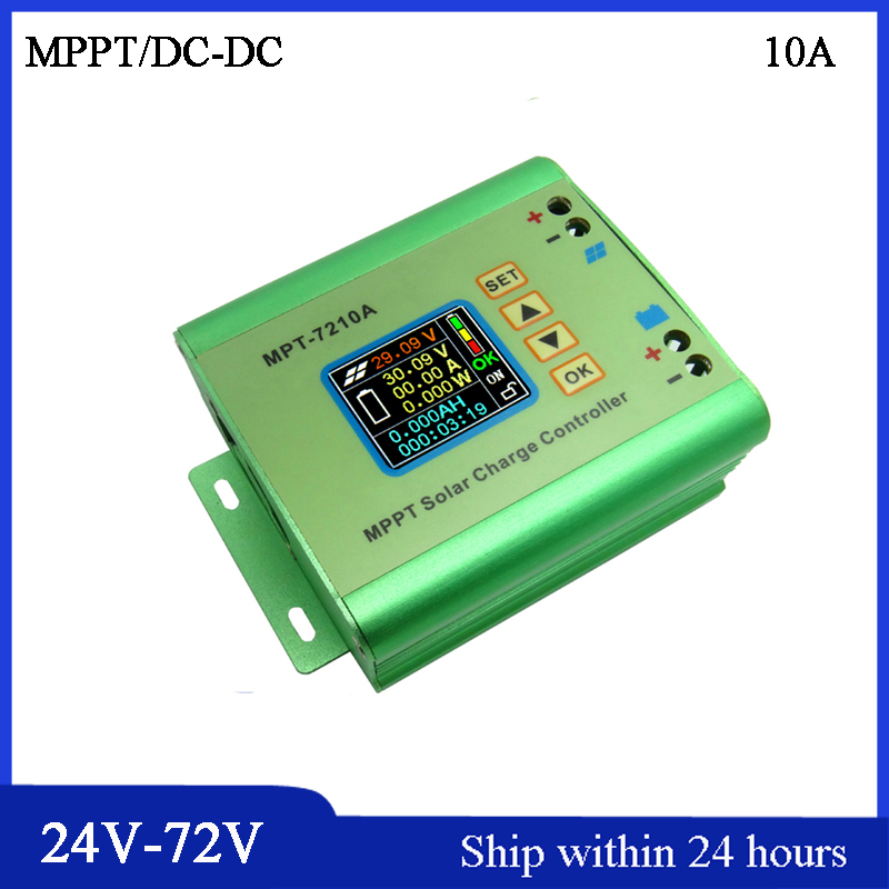 Free Shipping MPPT 10A Solar Controller Auto 12V/24V/36V/48V/72V Controller for Li-Battery/MPPT Solar Regulator/DC-DC Converter free shipping 250w 24v 36v dc 6 mofset