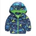 Nueva capa del muchacho del bebé patrón de la historieta niños del otoño del resorte chaquetas abrigo de moda para niños de lluvia desgaste al aire libre ropa de los muchachos del niño 1-6 T