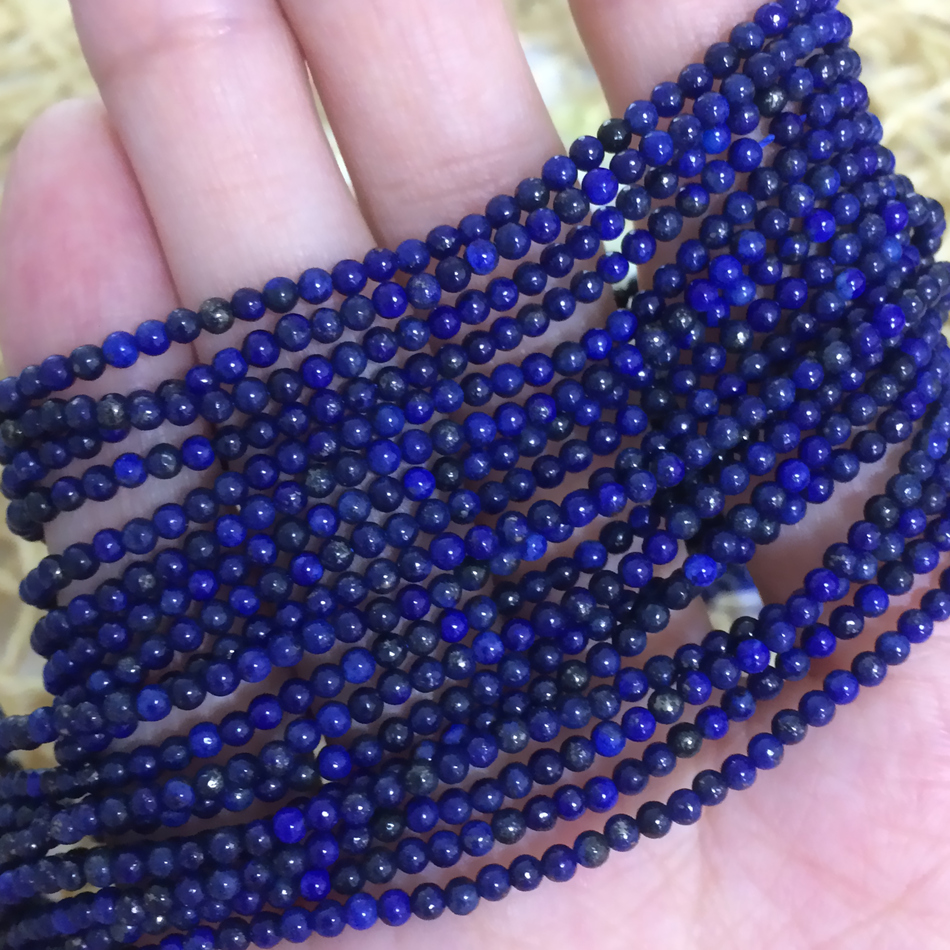 Natural 6-14mm Blue Lapis Lazuli Gemstone Square Beads Necklace 18/'/'