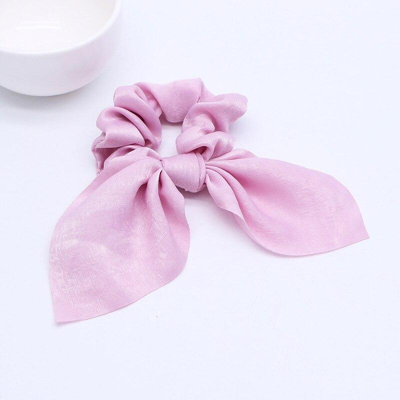 Новинка года. Модные резинки для волос с бантом. Резинки для волос для девочек. Резинки для волос в виде конского хвоста. Аксессуары для волос - Цвет: D Pink 1