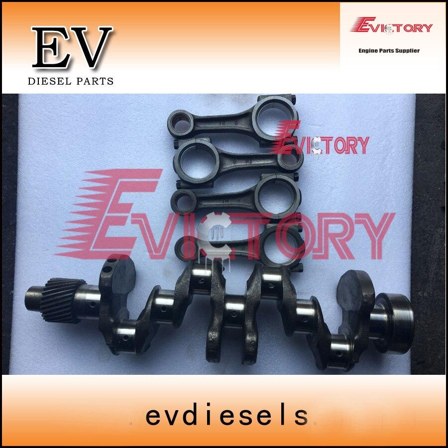 Genuine Yanmar 4D88 4TNE88 4TNV88 crankshaft +connecting rod con rod for Mini excavator engine repair new gasket set 129407 01340 for 4tnv88 4tne88 engine 719609 92610