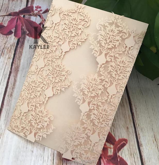 Elegant Laser cut Wedding Engagement Invitation Card,25pcs Craft Baby Shower Bridal Shower Party Invitation