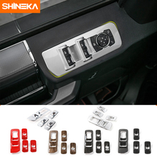 цена на SHINEKA Car Styling Window Lift Panel Cover ABS Window Switches Cover Trim for Ford F150 2015+