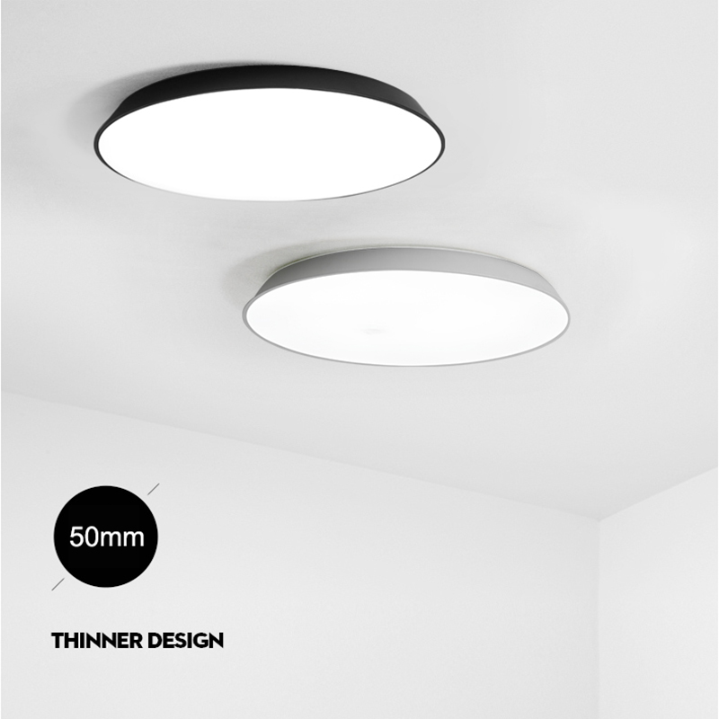 NEO Gleam Ultra Thin Modern Led Ceiling Lights For Living Room Bedroom White Black AC85 265V
