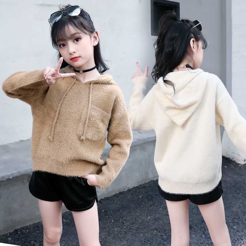 Girls Sweater Knitted Sweaters For Girls Solid Girls Top Autumn Kids Clothes Christmas Gift Winter Teen Girl Clothing Cardigan christmas knitted sweater cardigan for girls autumn winter winter kids pullover deer clothing children sweater 10 years 12 14 page 2