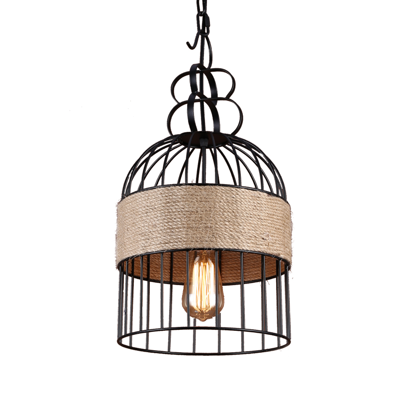 NEW Creative personality hemp rope chandelier,Cafe Bar decor decorations aisle American country retro water anchor lamp lights american retro contracted creative personality cafe restaurant bar counter rural decoration hemp rope chandelier