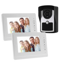 Waterproof One To Two 7 Video Doorphone Monitor Speakerphone Intercom With Doorbell Handfree Unlock Function