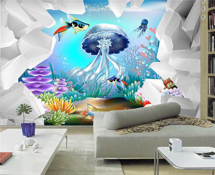 Buy large 3d mural wallpaper cartoon for Children s mural wallpaper