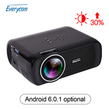 Everycom X7 Mini Proyector 1800 Lúmenes TV Home Theater Proyector LED soporte Full Hd 1080 p reproductor Multimedia de Vídeo LCD Hdmi Proyector 3D