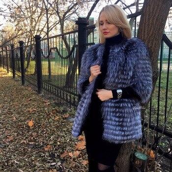 Women's Winter Real Fox Fur Coat 1