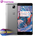 "Original Oneplus 3 A3000 Oneplus 3T A3010 Android6.0 6GB RAM 64GB ROM Mobile Phone Snapdragon 820 821 Quad Core 5.5"" Fingerprint"