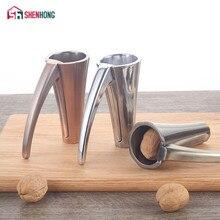SHENHONG noix de pécan en alliage de Zinc, noix de pécan, casse noisette de pin, décortiqueur, pince à entonnoir, poignées givrées, outil de cuisine
