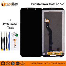 """5.7 """"العرض الأصلي ل موتورولا موتو E5 LCD محول الأرقام بشاشة تعمل بلمس تجميع ل موتو E5 عرض استبدال XT1944 2 XT1944 4"""