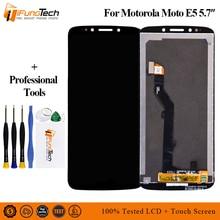"""5.7 """"תצוגה מקורית עבור מוטורולה Moto E5 LCD מסך מגע Digitizer להרכיב עבור Moto E5 תצוגת החלפת XT1944 2 XT1944 4"""