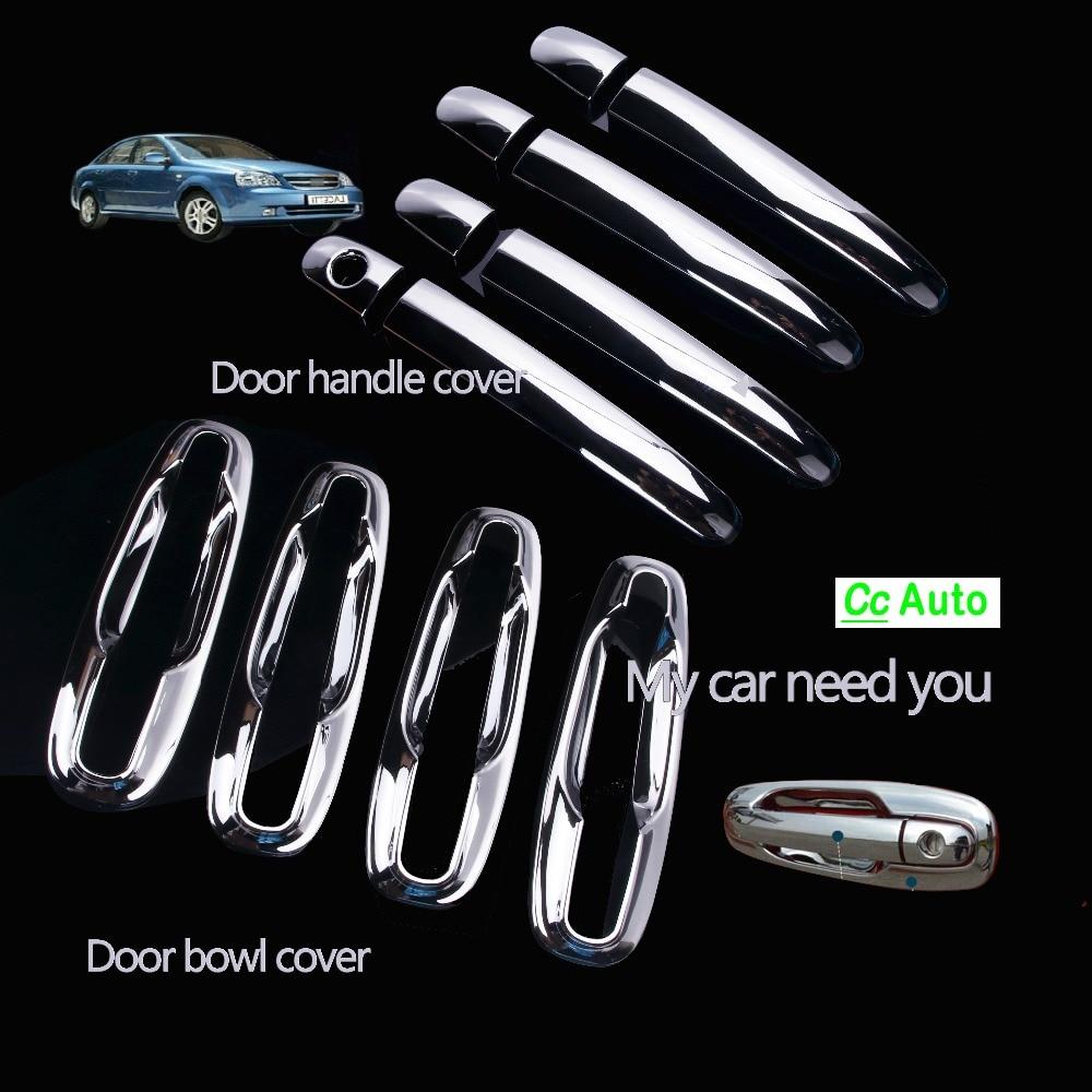 Chrome Exterior Door Handles Covers For Chevrolet/Lacetti Optra Daewoo Nubira Suzuki Forenza Holden Viva Stickers Car DQ-047