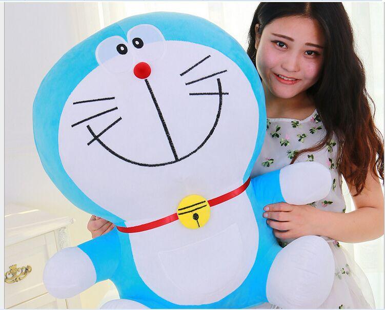 Grande peluche belle doraemon jouet peluche sourire doraemon poupée cadeau parfait environ 70 cm