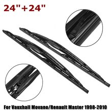 Pair For Vauxhall Movano/Renault Master 24 inch Rain Front Window Windscreen Wiper Blades 1998 1999 2000 2001 2002 2003 2004