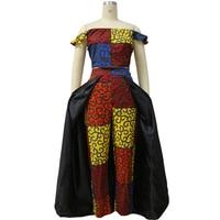 Shenbolen African Dresses for Women Ankara Printing Clothing Sets Wax Batik Sexy One Shoulder Top+Pants SET