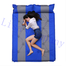 2017 hot sale double people waterproof thickening fully automatic inflatable cushion hiking climbing camping tent sleeping mat
