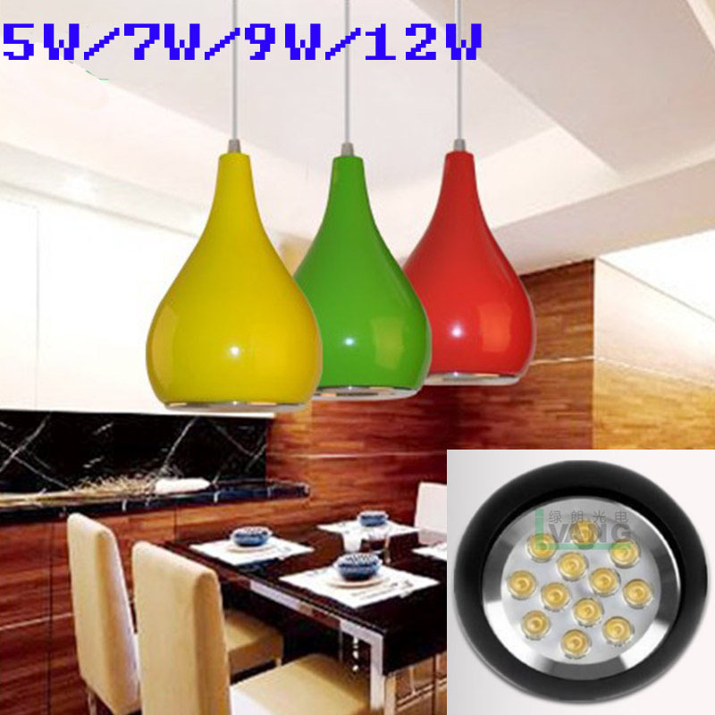 AC90 260V 5W 7W 9W 12W Morden Led Pendant Fixture Droplight For Living Room