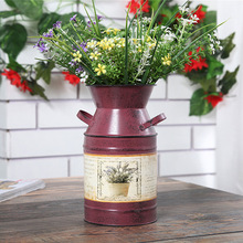 Creative Flower Barrels of steel Drum Pastoral Style Wedding Shop display Garden Home Decoration