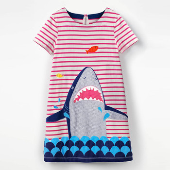 цена на Jumping meters Baby Girls Dress Summer cotton Costume for Kids Clothing  Children Party Dresses for Girls Clothes Princess