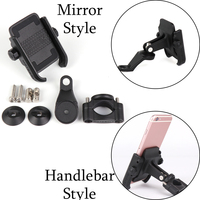 For r1200gs F800gs ninet Universal Motorcycle telephone Holder GPS Bike Handlebar Holder Stand Rotatable Installed Mirror