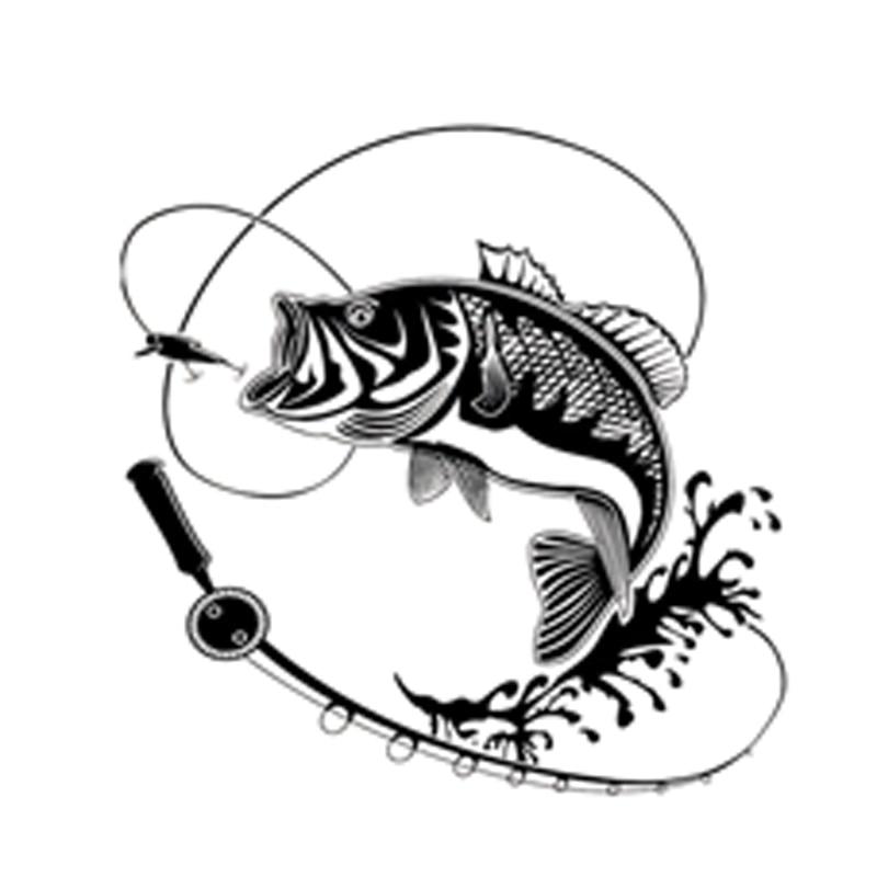 17.9CM*17.9CM Creative Fishing Silhouette Car Sticker Vinyl Decal Black/Silver Decor S9-0719