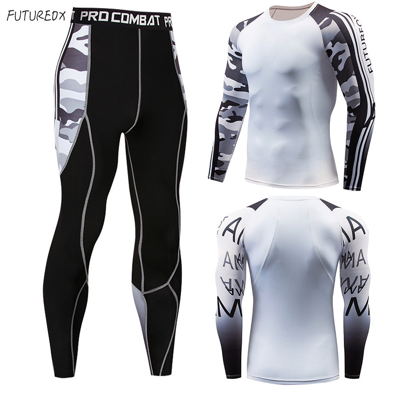 Long Sleeve Rash Guard Compression Multi-purpose Fitness MMA Shirt Shirt Men's Camouflage Suit Fitness Sportswear Union Clothing