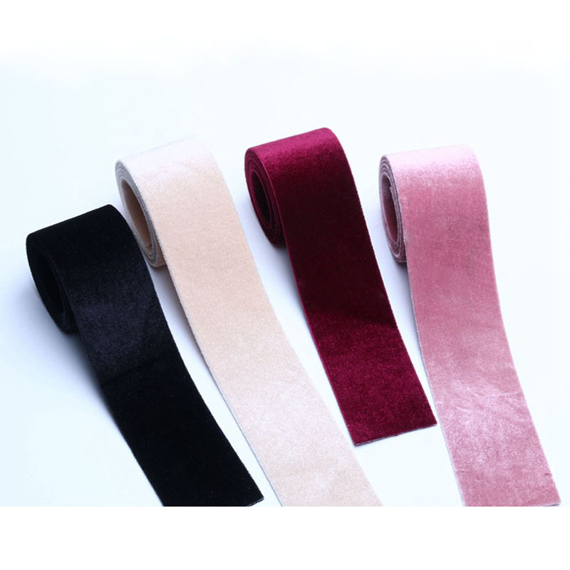 High quality 5 Yard/lot Velvet Ribbon Velour Webbing DIY Bowknot Headband Hair Band Accessories Wedding Materials Package